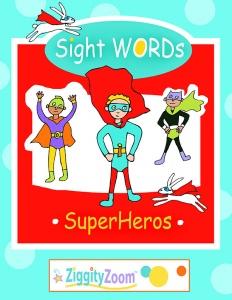Sight Words Superheros Workbook- Activities, Word Worksheets and More