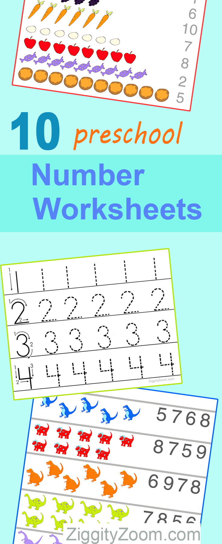 10 preschool math worksheets number recognition flashcards tracing. Black Bedroom Furniture Sets. Home Design Ideas