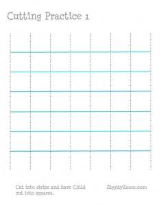 Cutting Practice Worksheet 1