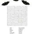 Halloween Word Search Printable Worksheet