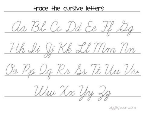 Cursive Writing Practice Worksheet -