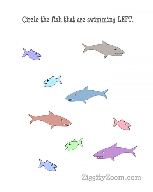 Left Directional Shark Worksheet: Shark Worksheets At Alzheimers-prions.com