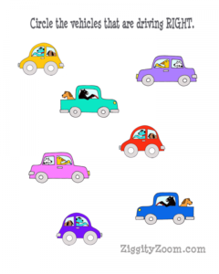 Right Directional Worksheet