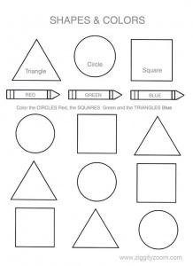 Shapes & Colors Worksheet