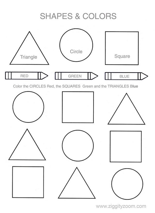 Shapes \u0026 Colors Worksheet