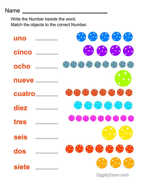 Worksheets Learning Spanish Worksheets spanish worksheets numbers worksheet