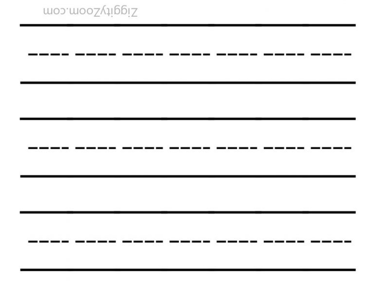 Blank Writing Template Worksheet -