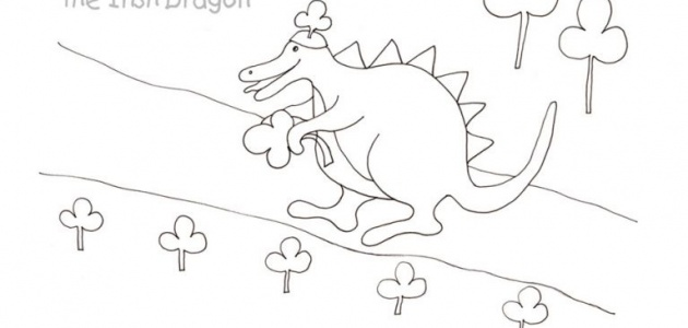 Dragon Count and Color Worksheet