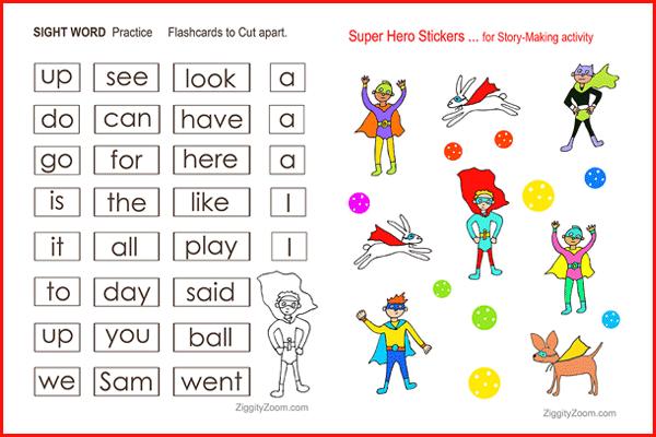 Superhero Sight Words Workbook