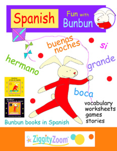Learn Spanish for Kids Workbook- Spanish Fun with Bunbun