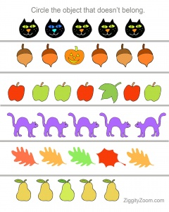 Fall Fun Math Literacy Workbook For Kindergarten