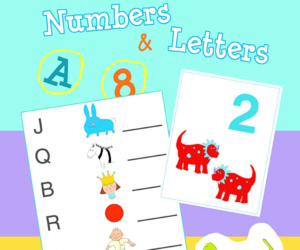 Numbers and Letters: Math & Literacy Fun Workbook