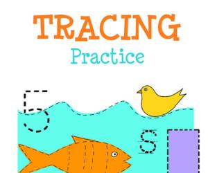Kindergarten Tracing Practice Workbook