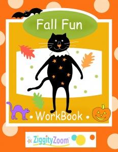 Fall Fun Math & Literacy Workbook for Kindergarten