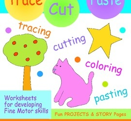 Tracing & Cutting Practice Workbook