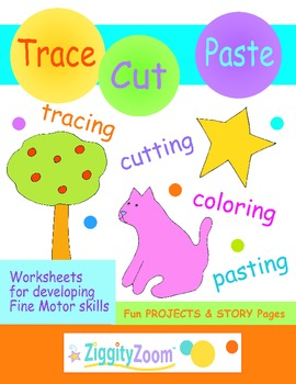 Tracing & Cutting Practice Kindergarten, Preschool Workbook