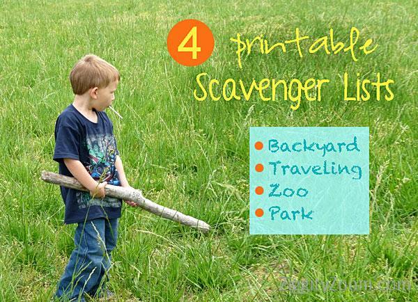 kids scavenger hunts