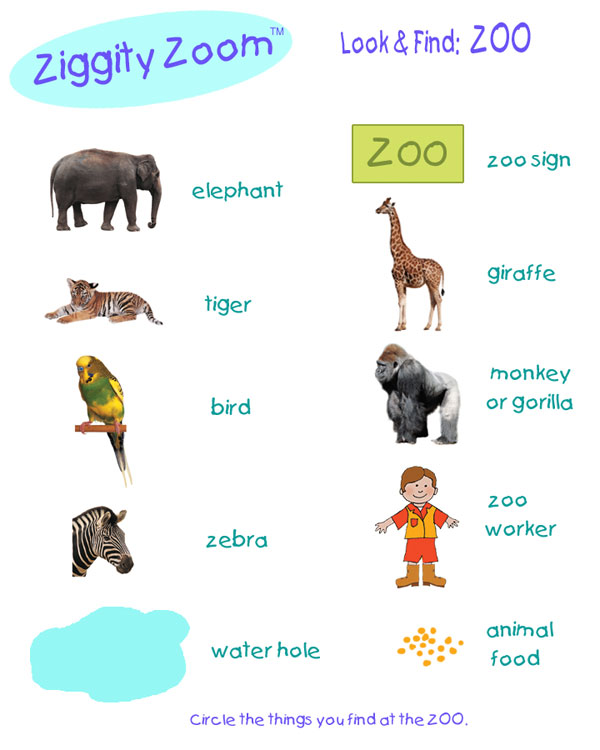 Zoo scavenger game