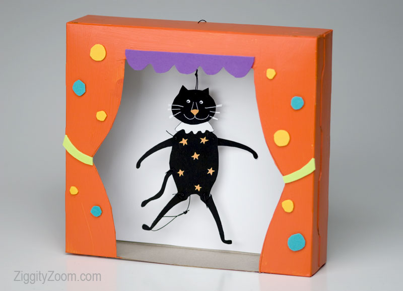 diy Halloween puppet theatre