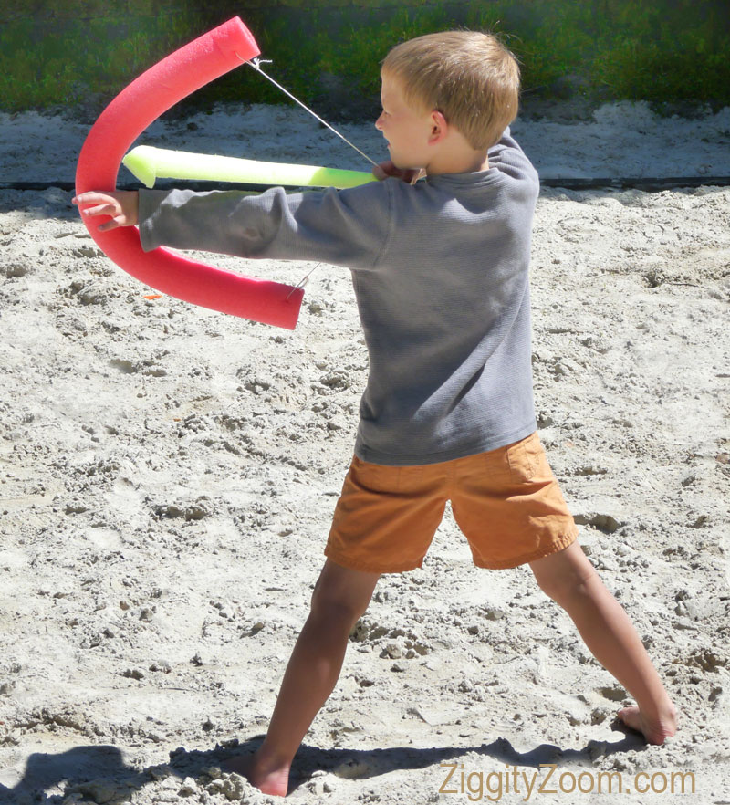 diy foam bow and arrow