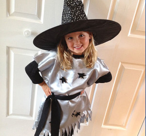 Easy DIY Witch Costume for Kids