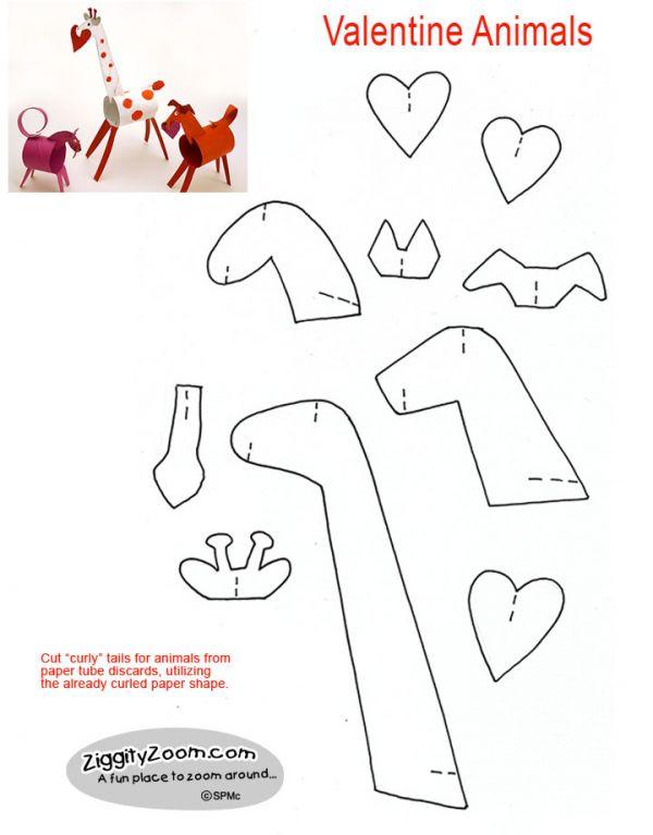 diy paper valentine animals