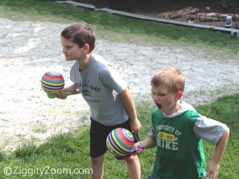 ball relay race game