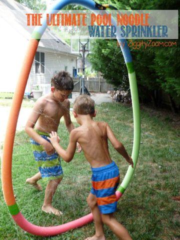 pool noodle sprinkler