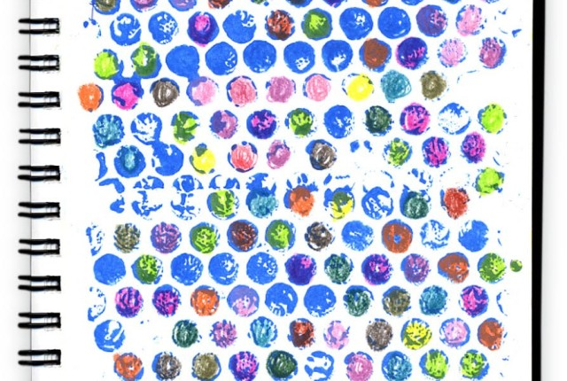 Kids Bubble Wrap Art Project to Make a Colorful Journal