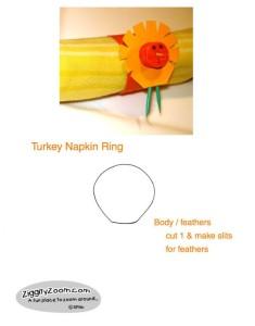 thanksgiving printable turkey napkin ring