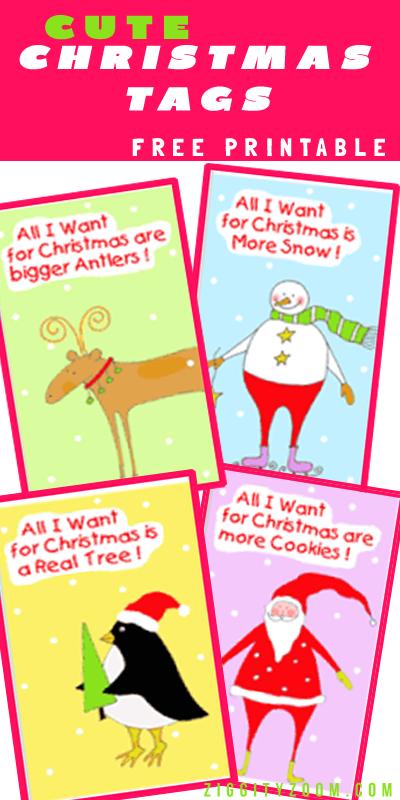free cute printable christmas gift tags