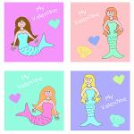 Mermaid Valentine's Cards