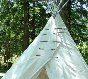 DIY Backyard Teepee for Kids