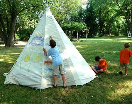 backyard teepee project