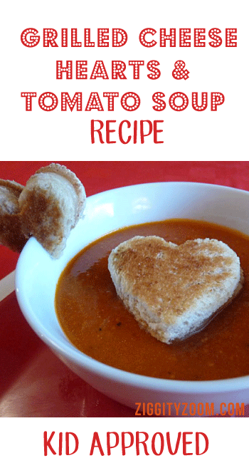 Grilled Cheese Hearts & Tomato Soup Recipe