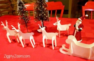Paper Reindeer and Sleigh Craft