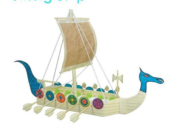 DIY Recycled Craft for Kids- Viking Ship