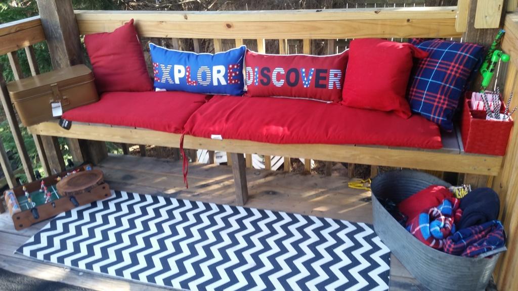 cozy kids outdoor space