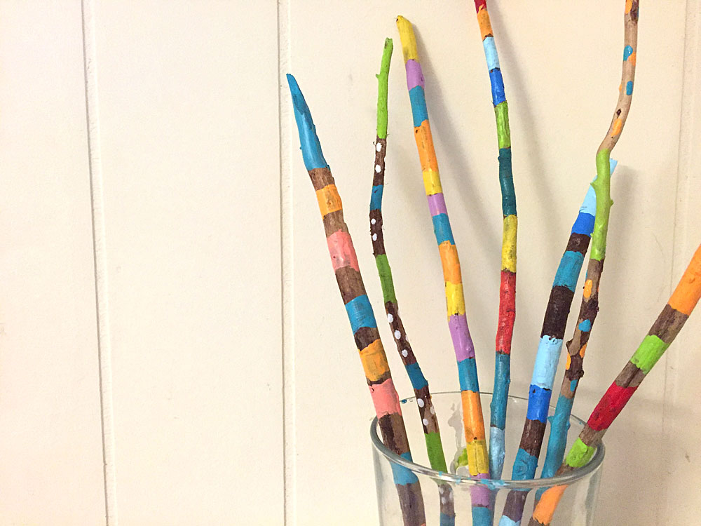 painted sticks project