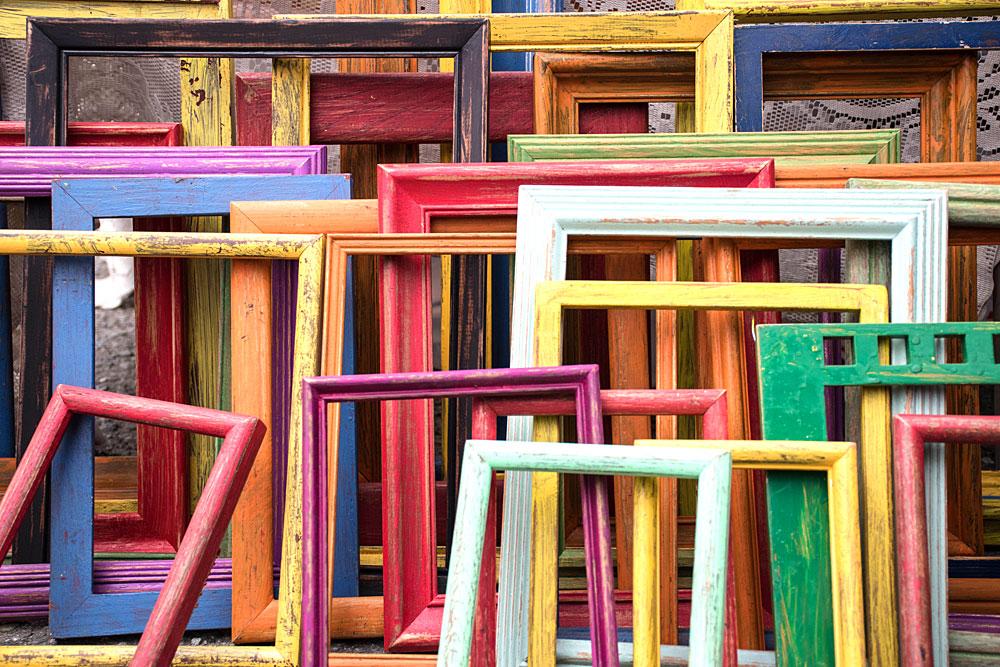 Colorful frames