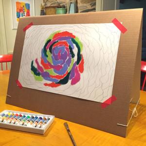Encouraging Art – DIY Easel