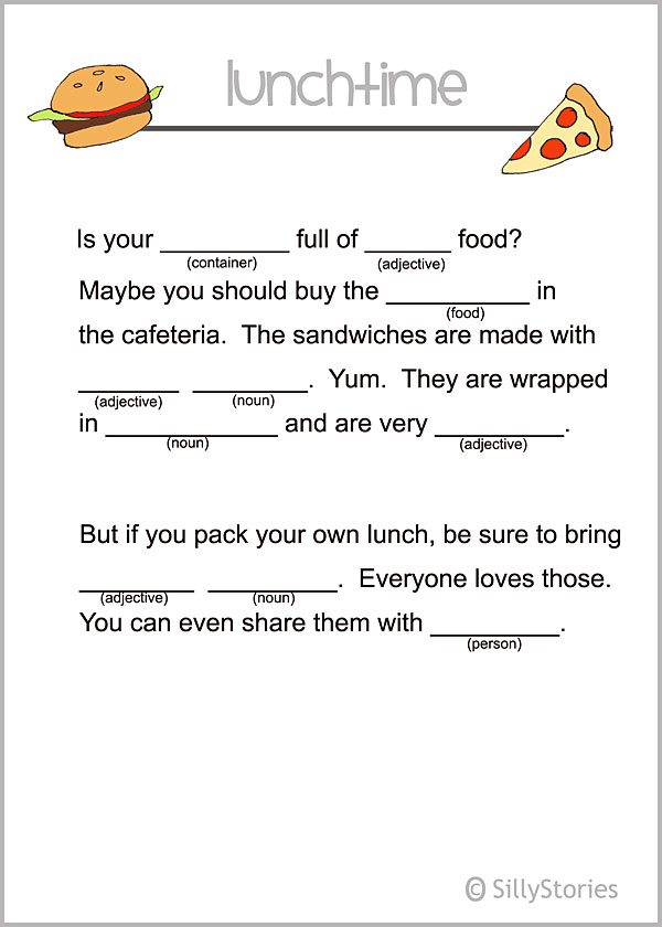 Printable notes for lunchboxes