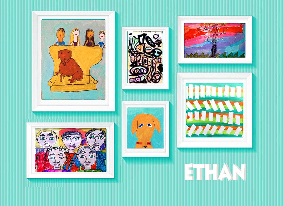 Art display for kids art