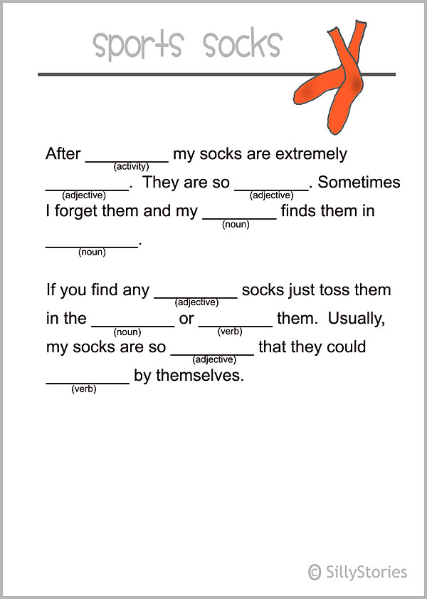 Printable silly stories lunch notes