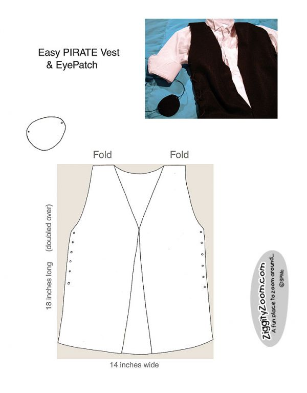DIY Pirate vest instructions