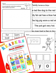 early reader books- sight word books and worksheets