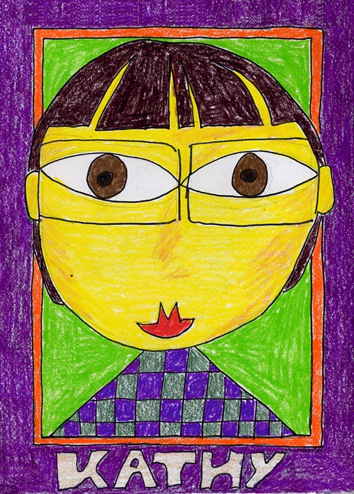 kids self portrait art project