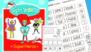 sight words practice kindergarten