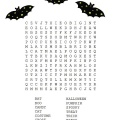 Halloween Word Search Printable Worksheet