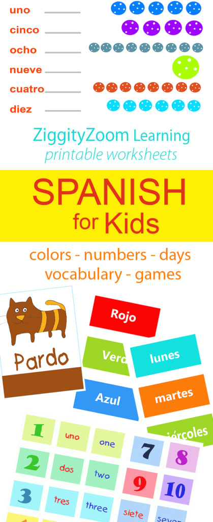 Printable Spanish worksheets